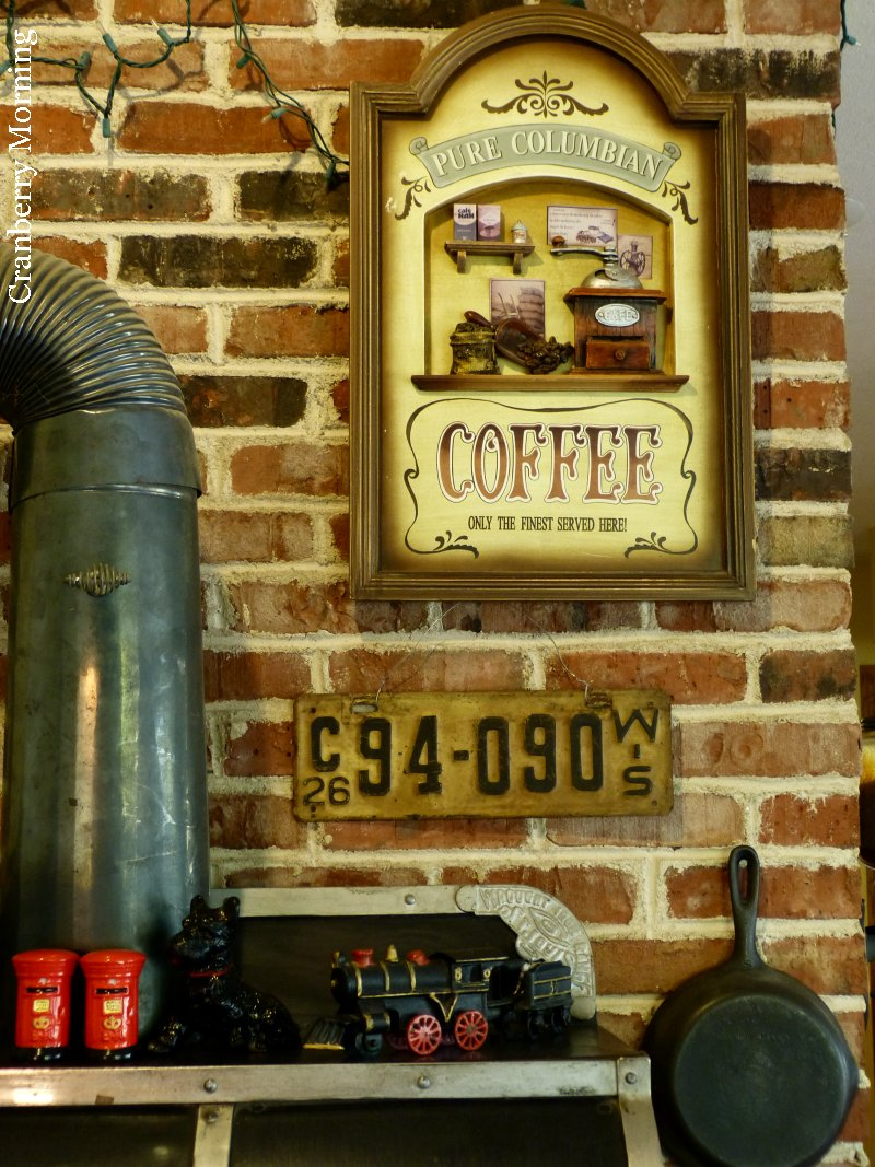 Cranberry Morning: Cookstove Wall Decor for the Coffee Shop