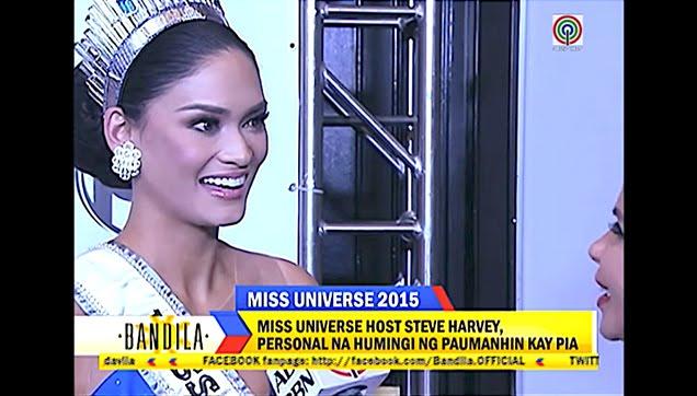 Pia Alonzo Wurtzbach interview after winning the Ms. Universe Beauty Title
