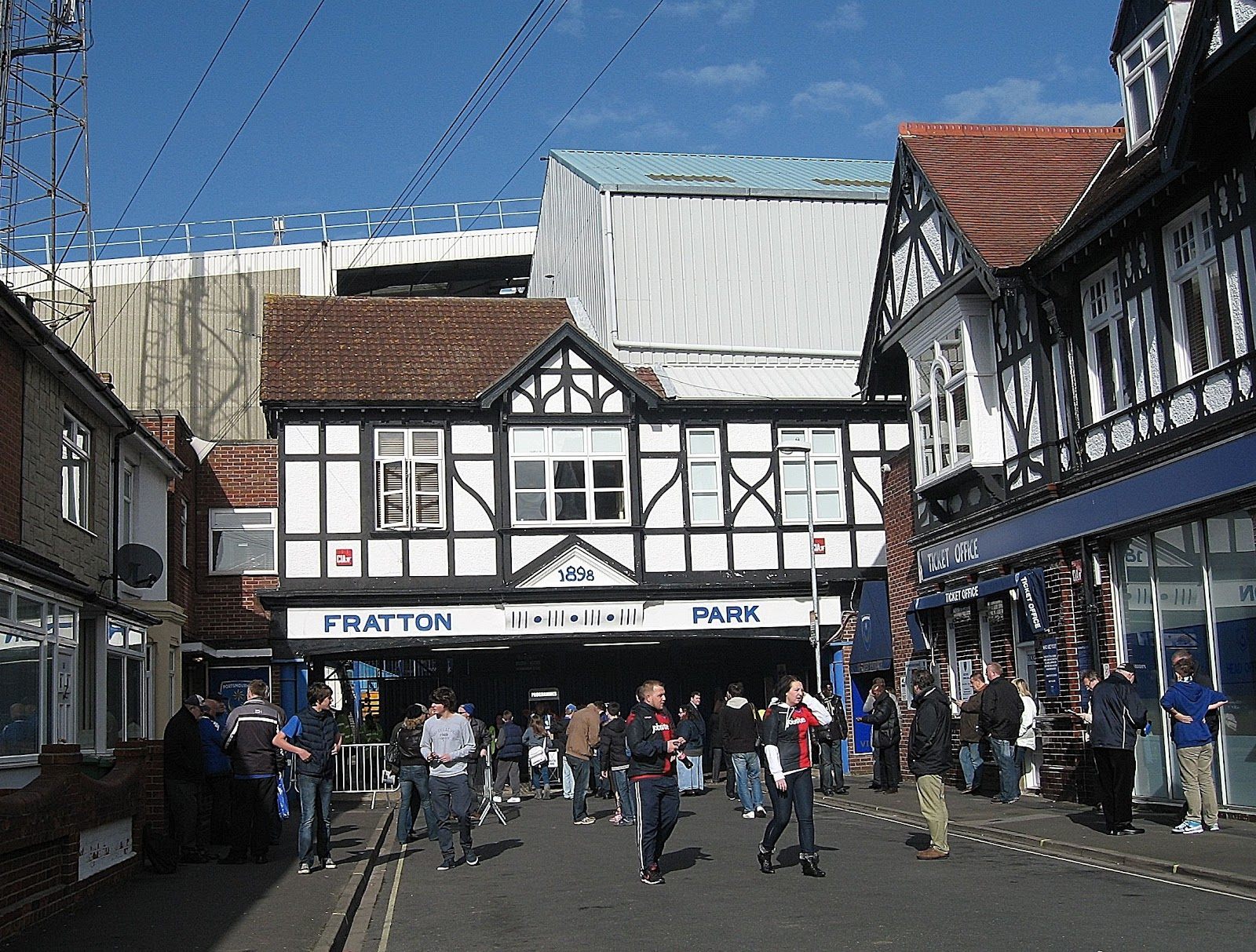 The Famous Mock Tudor Entrance To Fratton Park Home Of Portsmouth FC