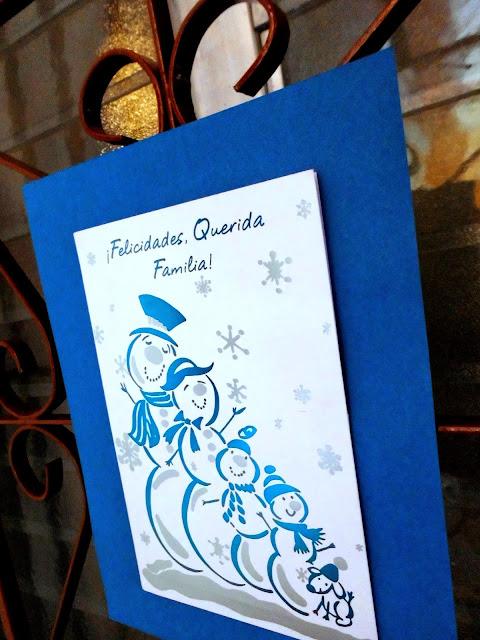 tarjeta de familia frosty