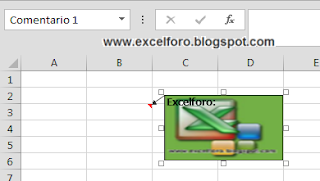 Cómo insertar una Imagen en el fondo de un Comentario de Excel.