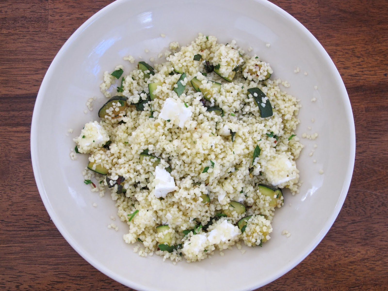 Sprouted Kitchen Couscous with Zucchini and Feta