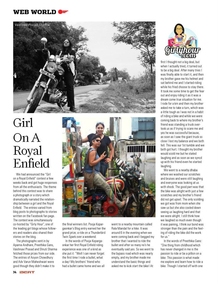 FEATURED IN ROYAL ENFIELD'S MAGAZINE:THE BEAT image