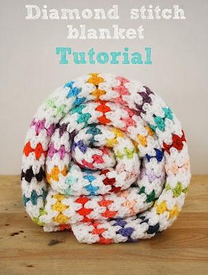 free crochet pattern diamond stitch blanket