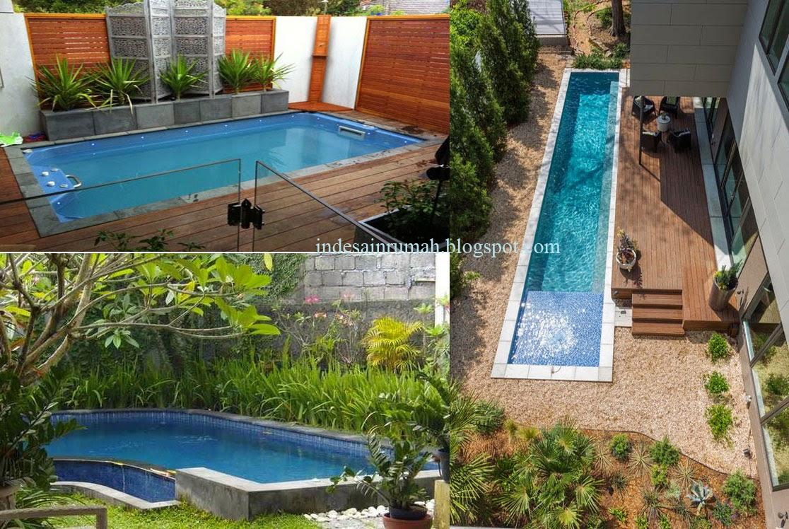 rumah minimalis sederhana dengan kolom renang serta ada