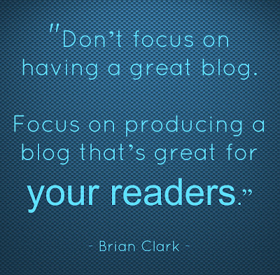 Quote about blogging