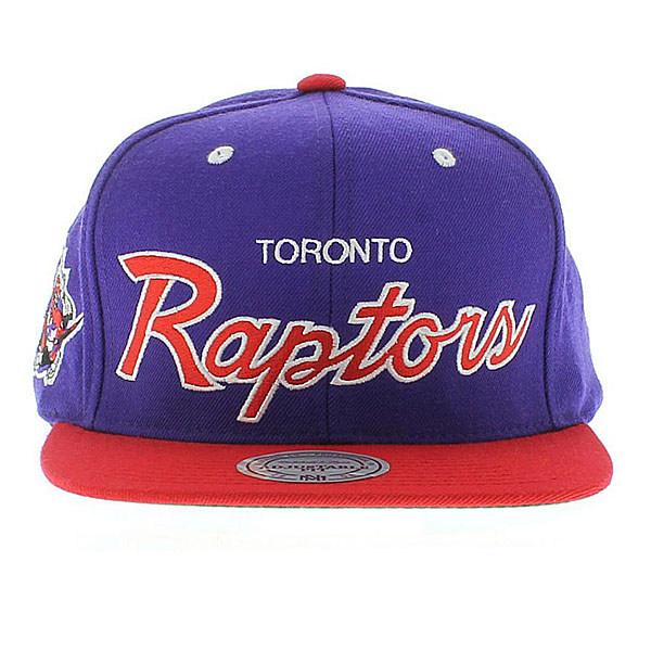 Boné Toronto Raptors Roxo, Vermelho, Script - Mitchell and Ness