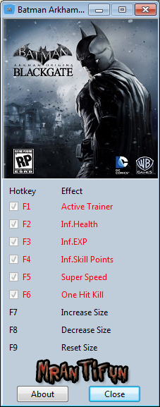 Batman Arkham Origins Initiation Trainer +8 MrAntiFun
