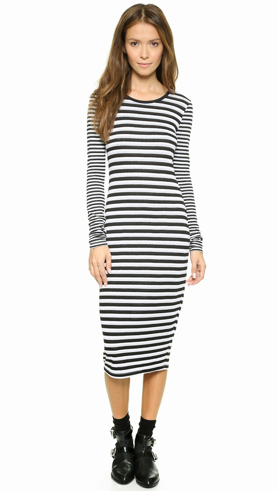Modest black and white stripe dress with sleeves | Shop Mode-sty #nolayering tznius tzniut jewish orthodox muslim islamic pentecostal mormon lds evangelical christian apostolic mission clothes Jerusalem trip hijab fashion modest muslimah hijabista
