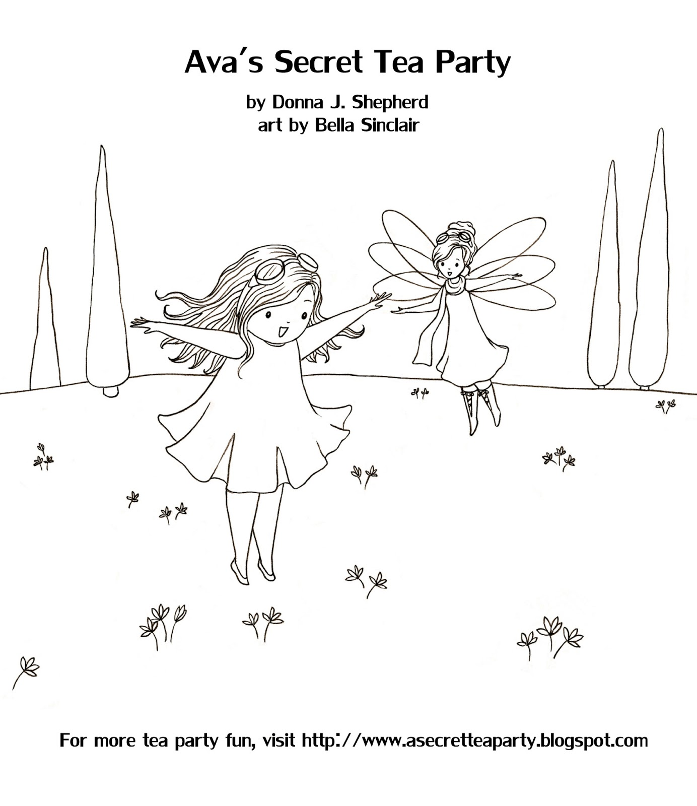 ava u0027s secret tea party tooth fairy coloring page ava u0027s secret