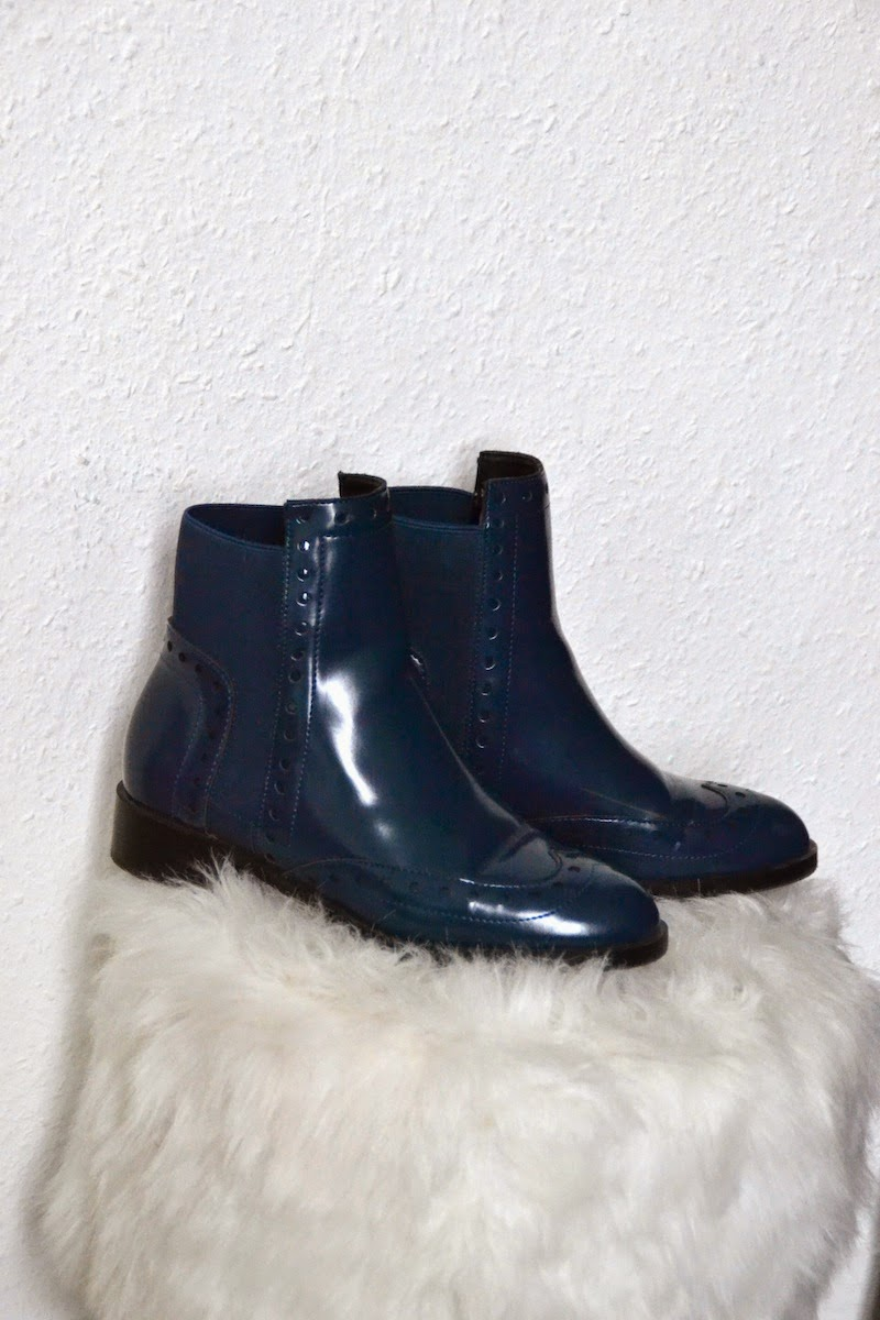 Bottines bleu Zara