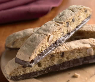 Almond Biscotti, Dipped in Chocolate!