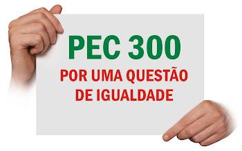 PEC 300:  POR UMA QUESTÃO DE IGUALDADE