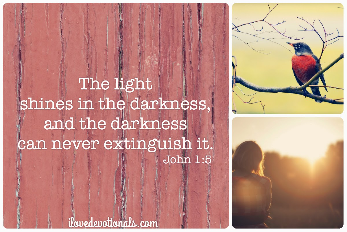 Scripture verse John 1:5 The light shines in the darkness