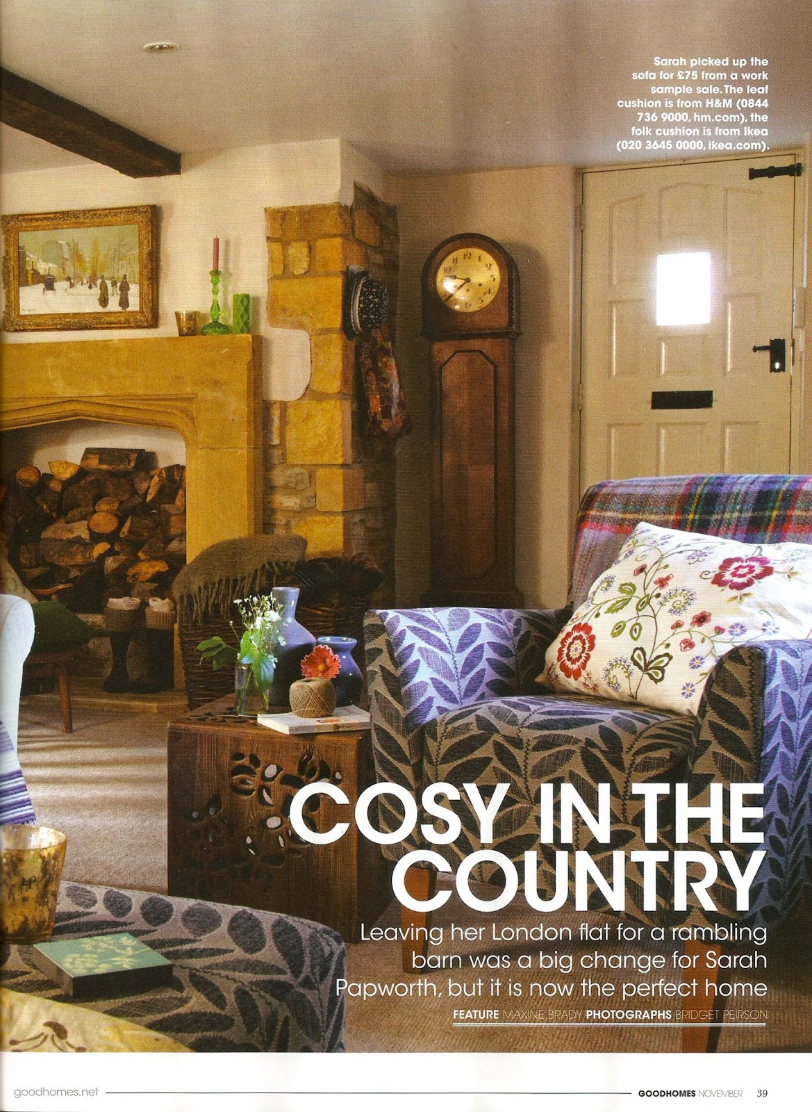 Find New Designers: Good Homes magazine feature: Cosy in the Country ...