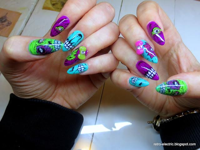 Iron Fist nails, nailart