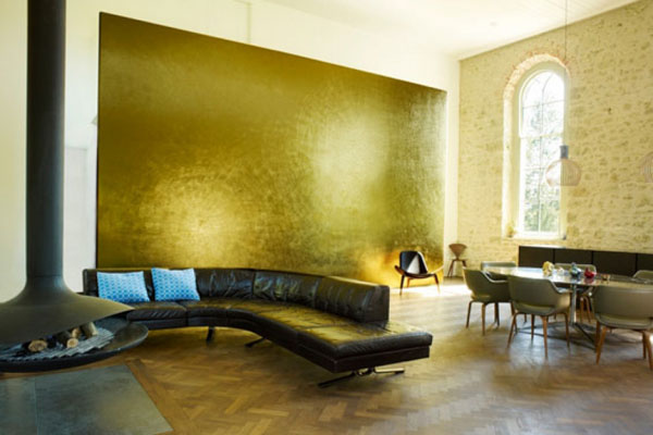All About Gold: A Stunning Gold Feature Wall