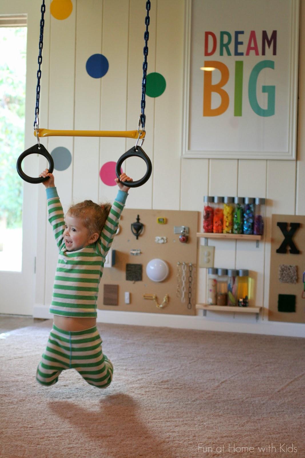 Playroom design diy playroom with rock wall - Kids play room ...