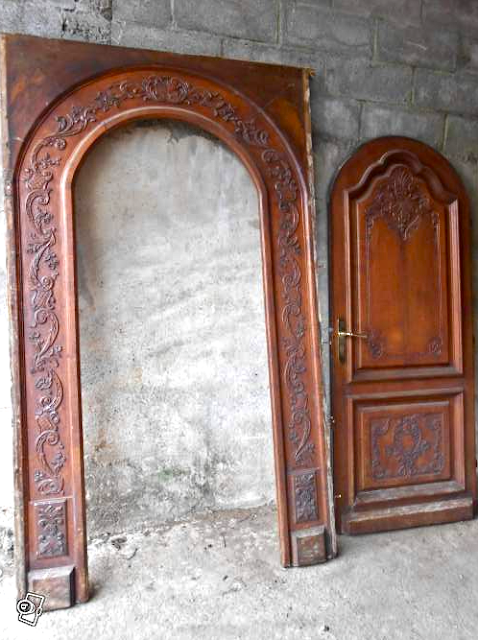 Antique French Oak Entrance Door Arch | Porte d'Entree Chene Massif