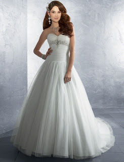 wedding strapless dress
