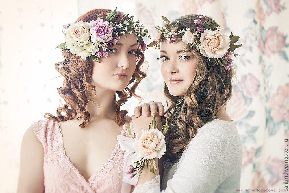 Венки на голову из искусственных цветов своими руками фото