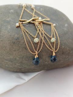 Etsy Kim Bloomberg Designs London Blue Topaz Earrings