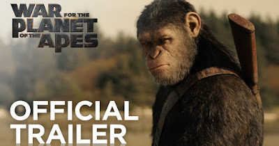 Poster of War for the Planet of the Apes 2017 Theatrical Official Trailer Free Download HD 720P