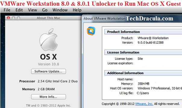 mac os x unlocker for vmware 12