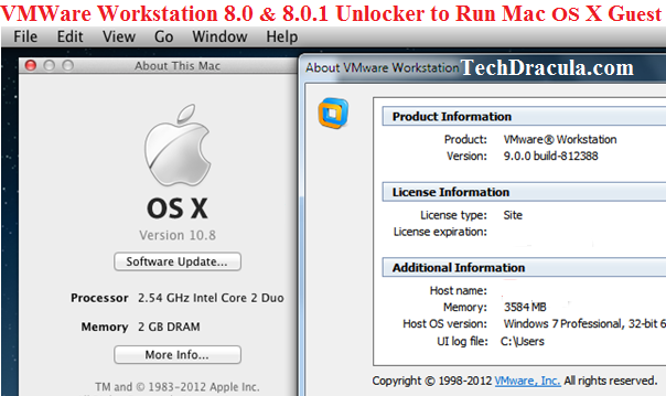vm workstation mac os