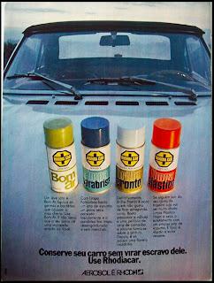 propaganda Rhodia Car - 1973. 1973. brazilian advertising cars in the 70. os anos 70. história da década de 70; Brazil in the 70s; propaganda carros anos 70; Oswaldo Hernandez;