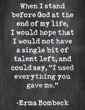 I GIVE...