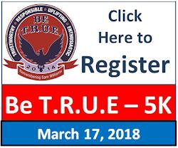 2018 Be T.R.U.E. 5K REGISTER HERE