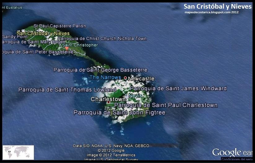 Mapa De San Crist 243 Bal Y Nieves Google Earth