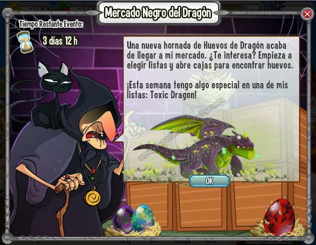 imagen del dragon toxico en el mercado negro del dragon