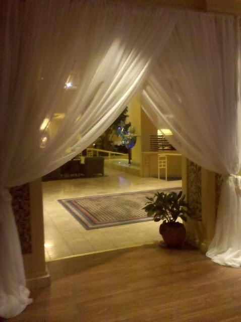 Isha Foss Events custom entrance draping