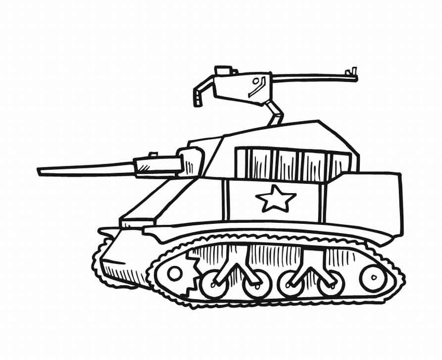 Military tank coloring pages picture