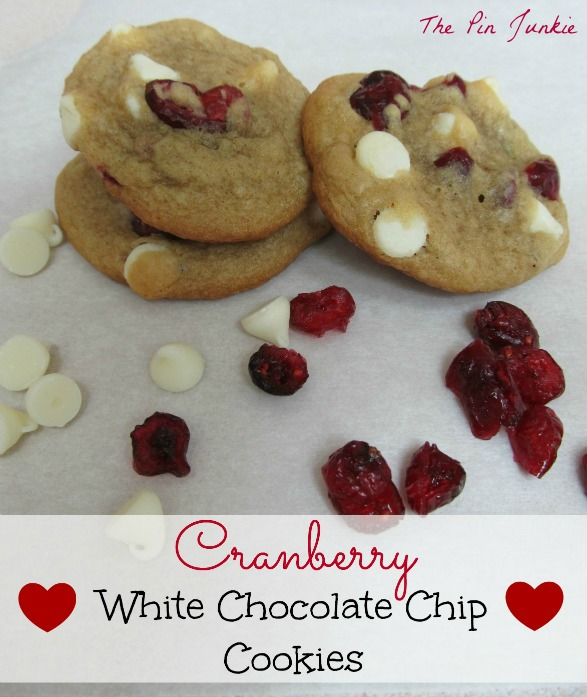 The Pin Junkie: Cranberry White Chocolate Chip Cookies
