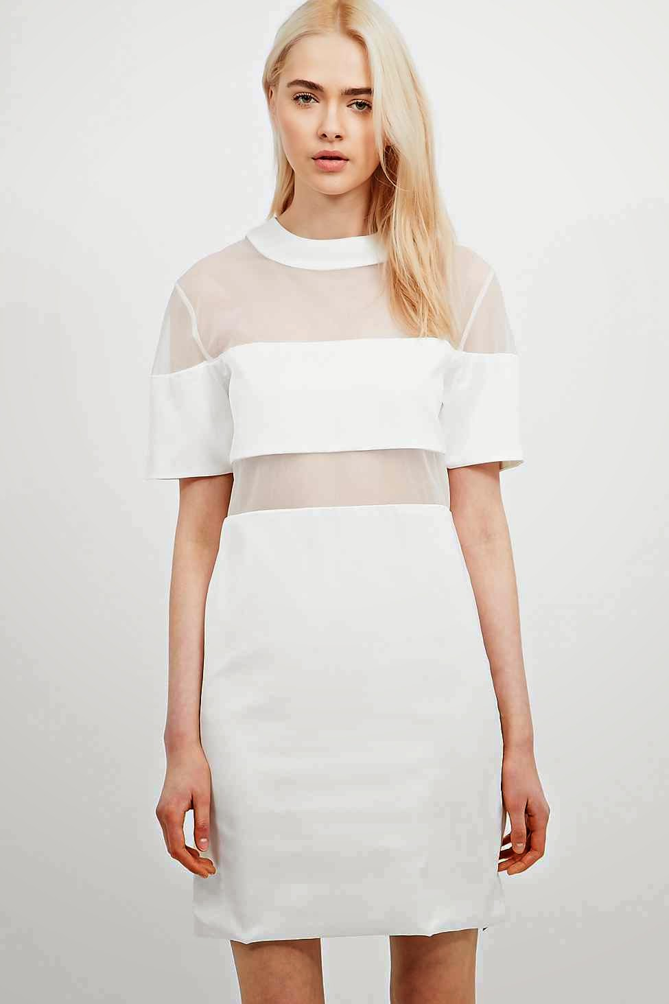 urban outfitters white panel dress