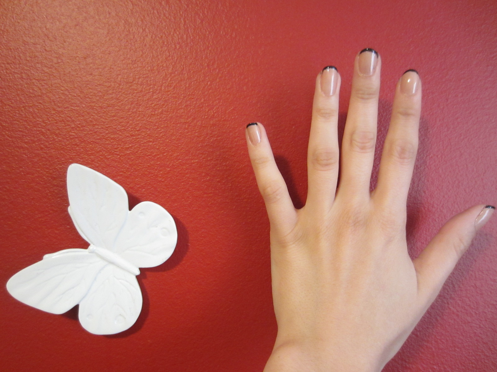 LikeAFleur: Nail of the Day / Black Tip French Manicure