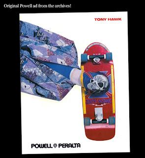 Retro Powell skate advert tony hawwk