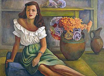 Ester mora diego rivera for Mural una familia chicana