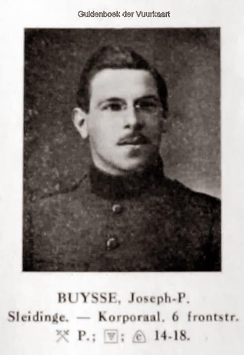 Buysse Joseph Prosper 1894-1994. Foto uit de Guldenboek der Vuurkaart.