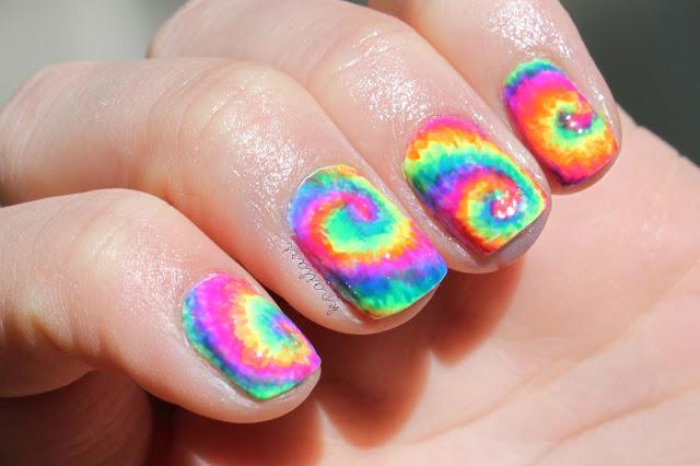 L Knafo Do It Yourself Diy Neon Tie Dye Nail Art Tutorial By