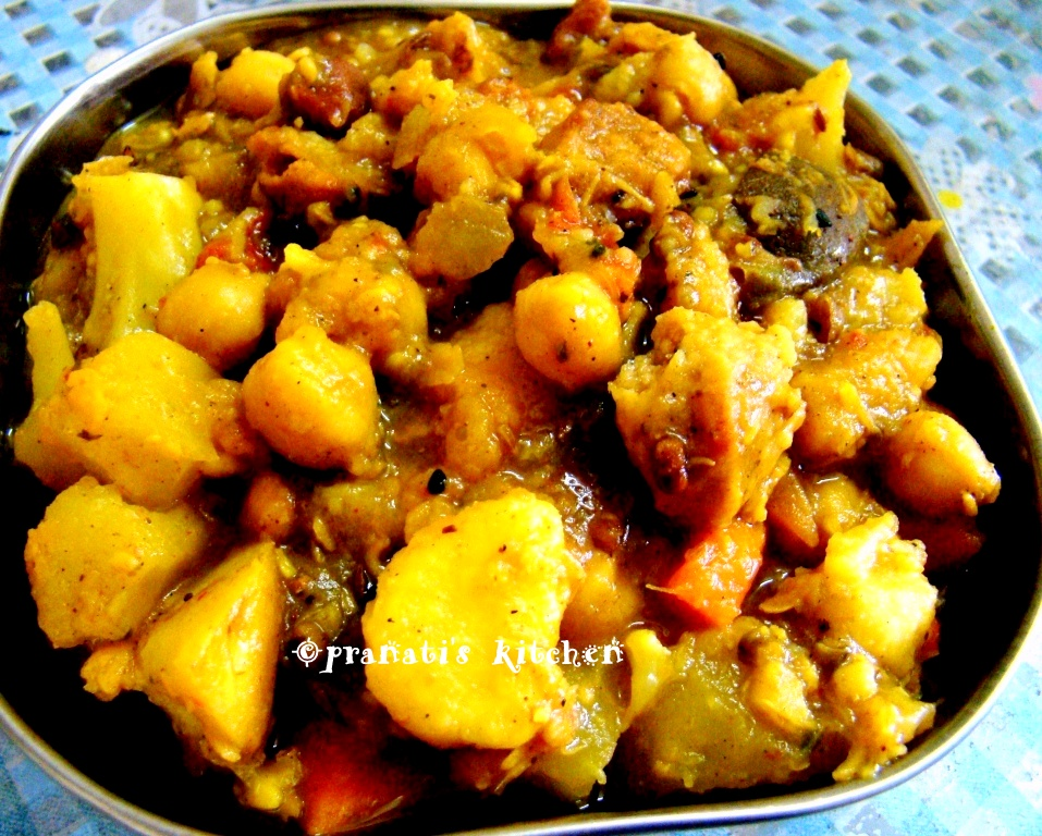 Delicious recipes 4m pranatis kitchen ghanta tarkari without ghanta tarkari without onion garlic forumfinder Choice Image