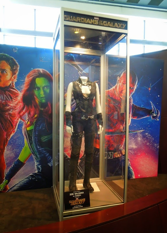 Zoe Saldana Gamora Guardians of the Galaxy movie costume
