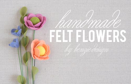 Handmade Felt Flowers by Benzie