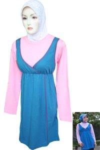 Blus Exora - Model A032 Turqis Pink (Toko Jilbab dan Busana Muslimah Terbaru)