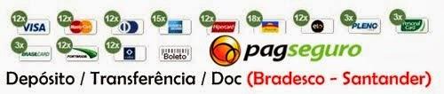 Formas de pagamento: