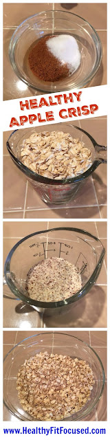 Healthy Baked Apple Crisp, www.HealthyFitFocused.com, Julie Little Fitness