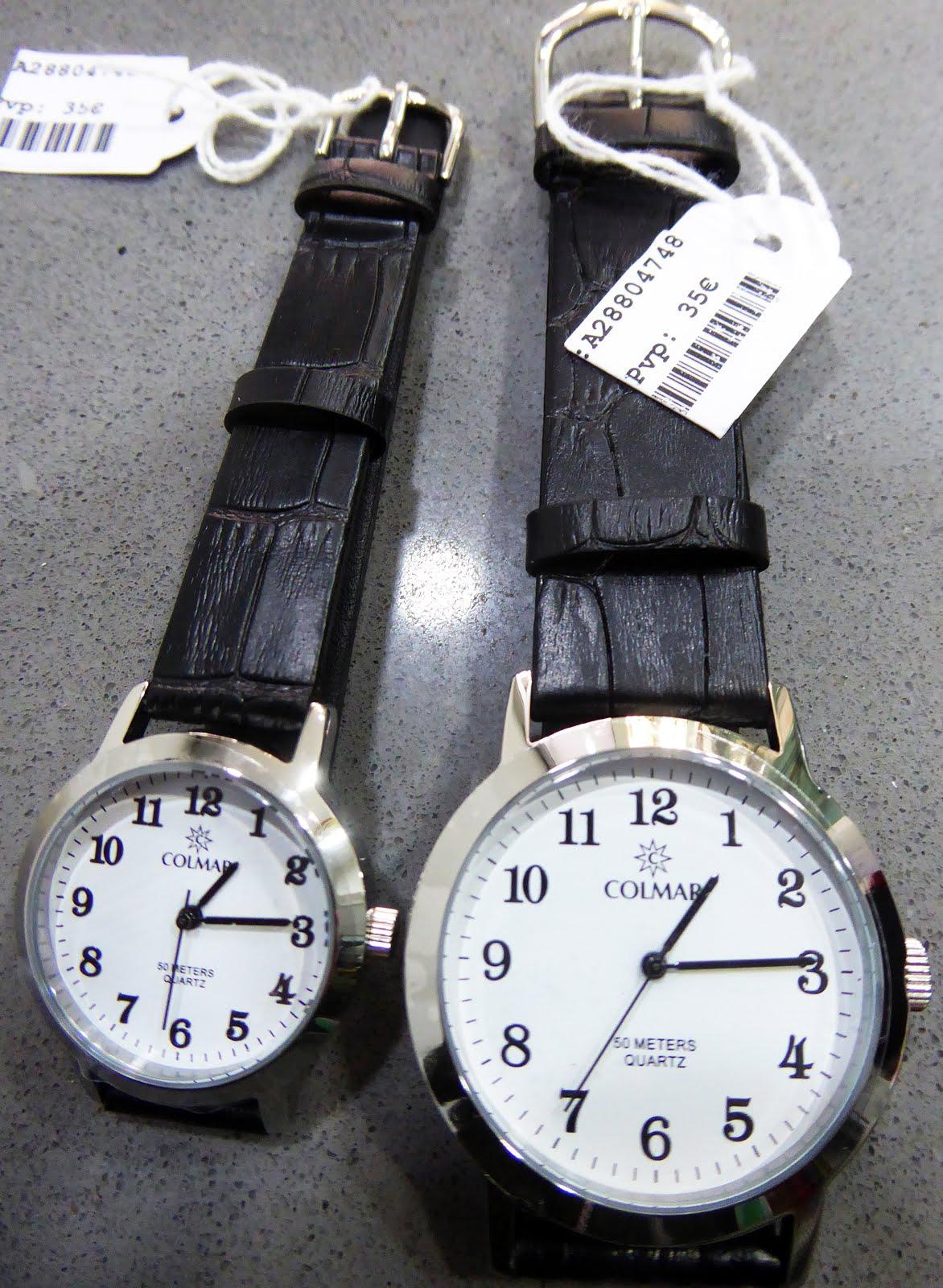 Relojes clásicos, con números grandes